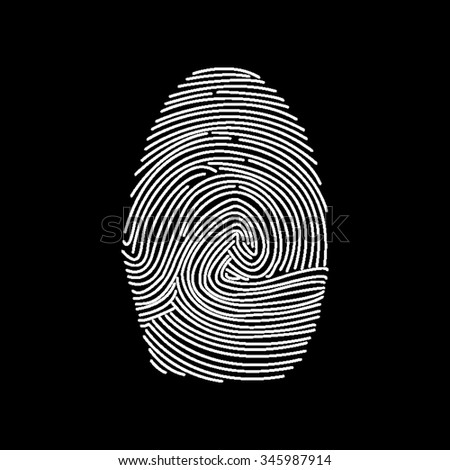 fingerprint vector icon isolated on black