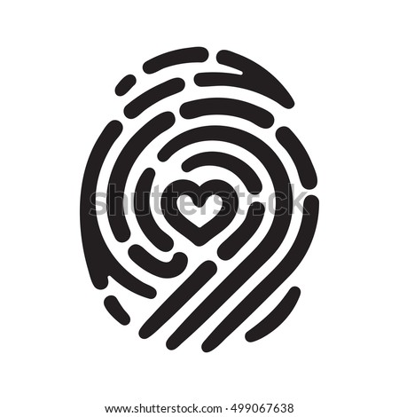 Fingerprint Eye Inside Conceptual Security Logo Stock ...