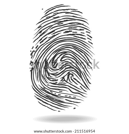 Fingerprints. Crime and security concept