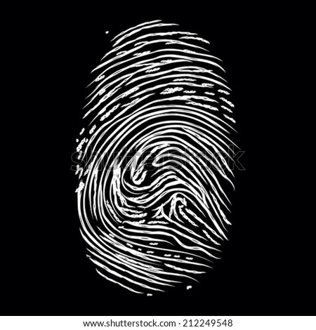 Fingerprints on black
