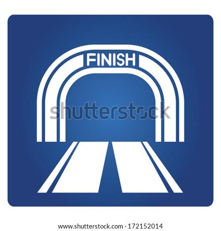 finish, finish line  - stock vector