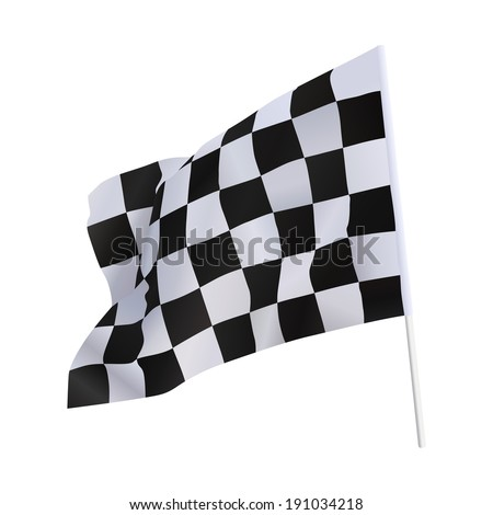 Finish flag for racing car isolate on white - stock vector