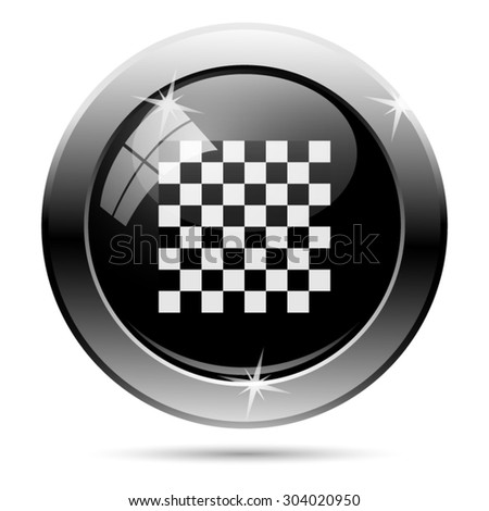 Finish flag icon. Internet button on white background. EPS10 vector  - stock vector