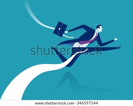 Finish line. Concept business illustration - stock vector