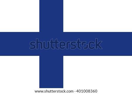 Finland official flag white blue,  stylish vector illustration - stock vector