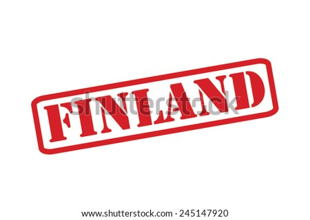 FINLAND Red Rubber Stamp Vector over a white background. - stock vector