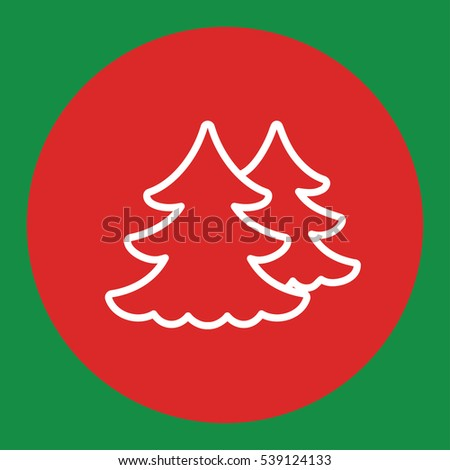 Fir Spruce Pine Tree Wood Christmas Stock Vector 539124133