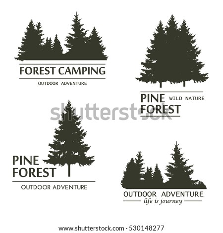 Pine Tree Silhouette Stock Images, Royalty-Free Images & Vectors ...