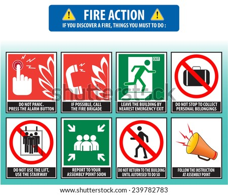 Fire Evacuation Stock Images Royalty Free Images