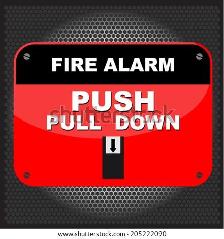 Fire alarm, vector - stock vector