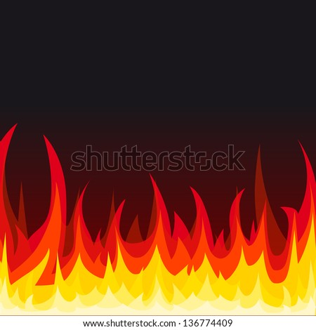 Fire background. Vector illustration.