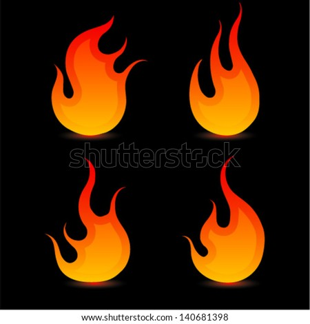 Fire ball - stock vector