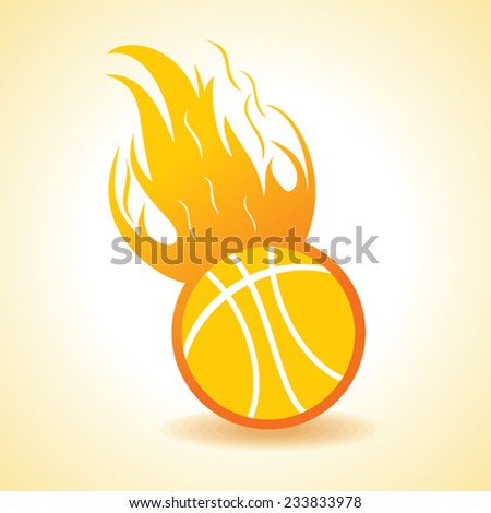 Fire ball concept stock vector - stock vector