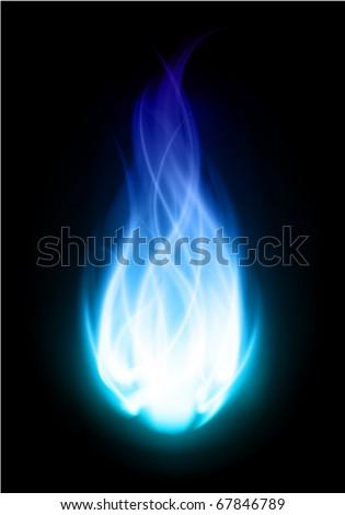 Fire ball flame burn vector background - stock vector