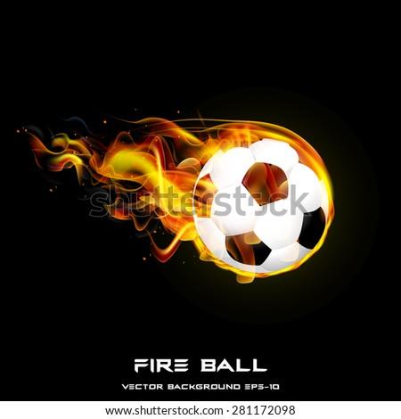 Fire Ball vector illustration styles design - stock vector