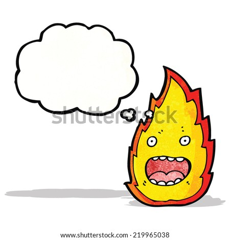 fire cartoon character