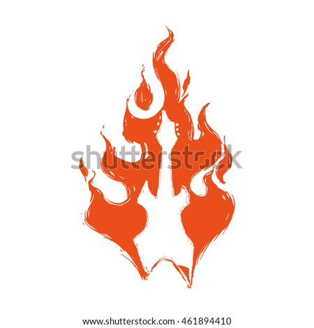 Fire concept represented by flame icon. Isolated and flat illustration