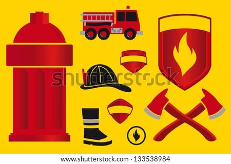 Fire department - stock vector