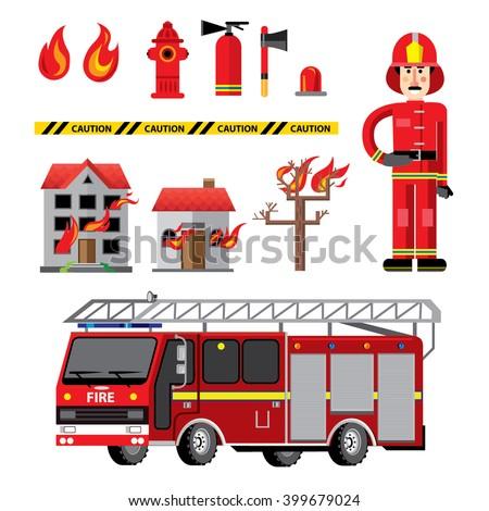 Fire Department Clipart Stock Vector 412138447 - Shutterstock