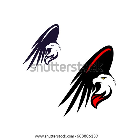 Fire Eagle Icon Symbol Eagle Hawk Stock Vector 688806139 Shutterstock