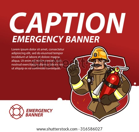fire emergency banner template