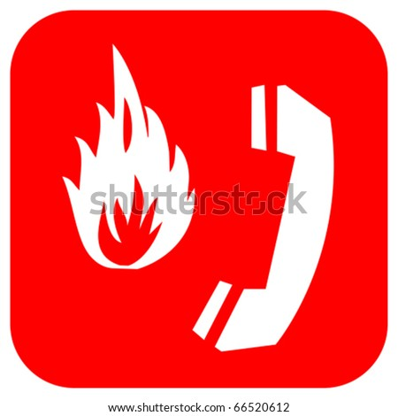 Fire emergency logo - stock vector