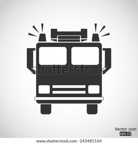 fire engine vector icon - stock vector