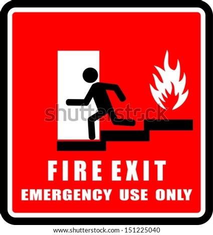 Fire Exit - stock vector