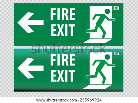 Fire Exit sign - stock vector