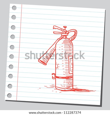 Fire extinguisher - stock vector