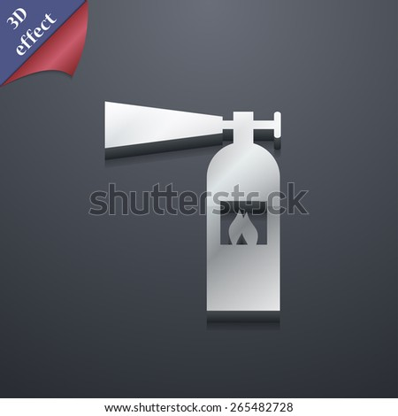fire extinguisher  icon symbol. 3D style. Trendy, modern design with space for your text Vector illustration - stock vector