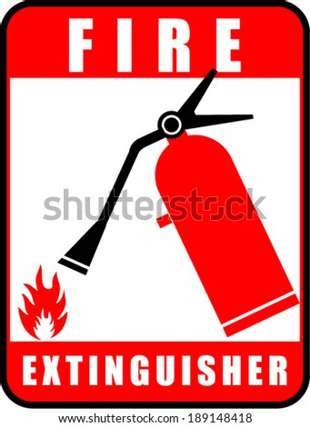Fire extinguisher, icon vector  - stock vector
