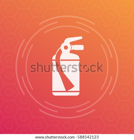 Fire Extinguisher Icon Vector Symbol Stock Vector 588542123