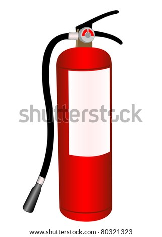 Fire extinguisher illustration on a white background - stock vector