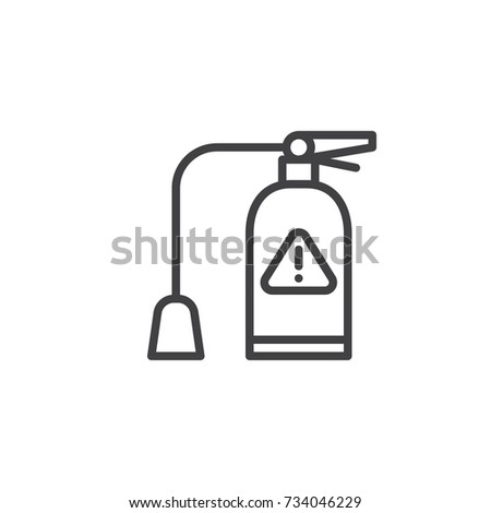 Fire Extinguisher Line Icon Outline Vector Stock Vector 734046229