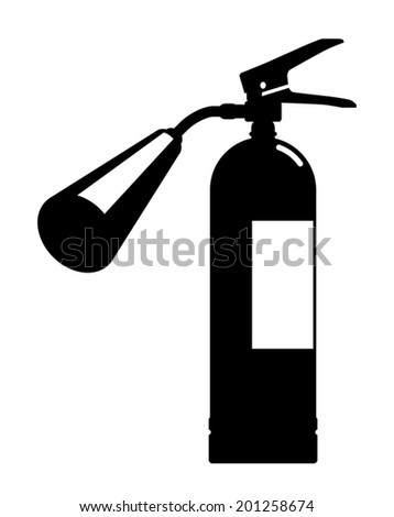 Fire extinguisher silhouette - stock vector