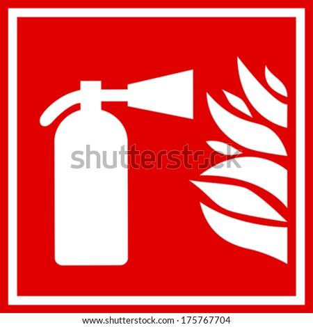 fire extinguisher sign stock vector 399516277 shutterstock