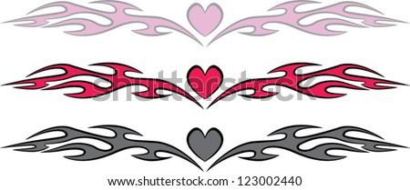 Fire Heart Tattoo Stock Vectors & Vector Clip Art | Shutterstock