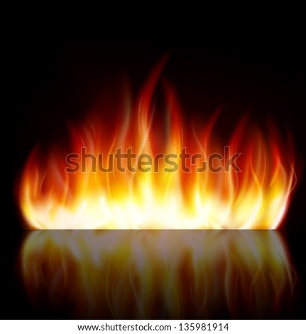 Fire flame background - stock vector