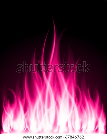 Fire flame burn vector background - stock vector