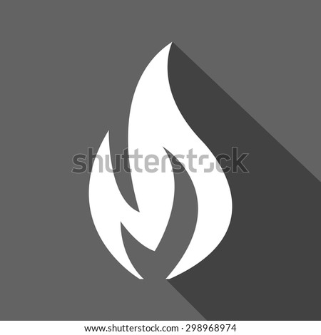 fire flame glowing icon vector - stock vector