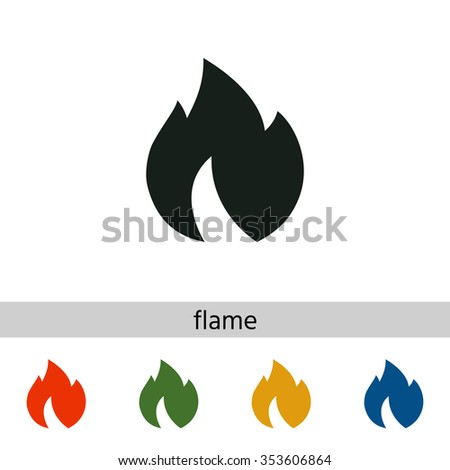 Fire, flame icon. - stock vector
