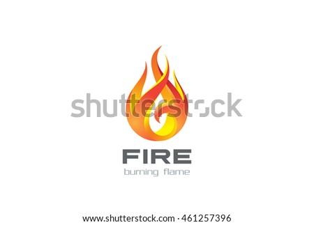 Fire Flame Logo Design Vector Template Stock Vector 461257396 ...