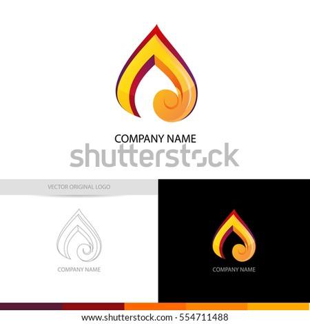 fire flame vector logo