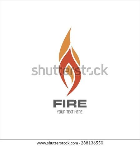 Fire Flame vector logo design template - stock vector