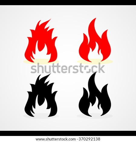 Fire flames Vector EPS10, Great for any use. - stock vector