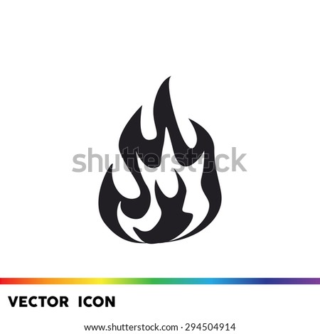 Fire flames vector icon - stock vector