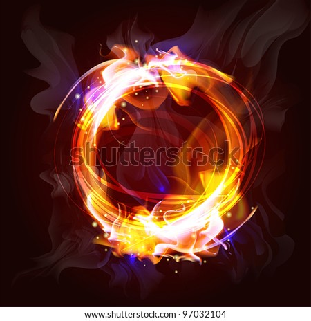 fire frame background for design  (Vector Illustratio) - stock vector