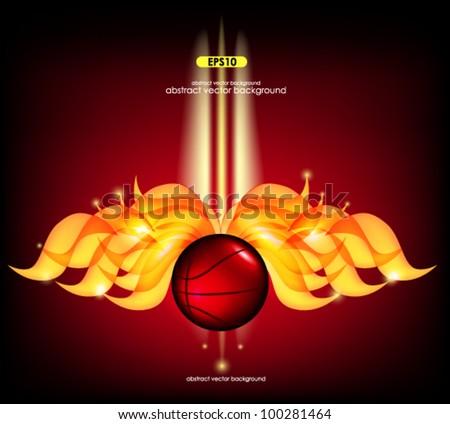 Fire Glow Ball - stock vector