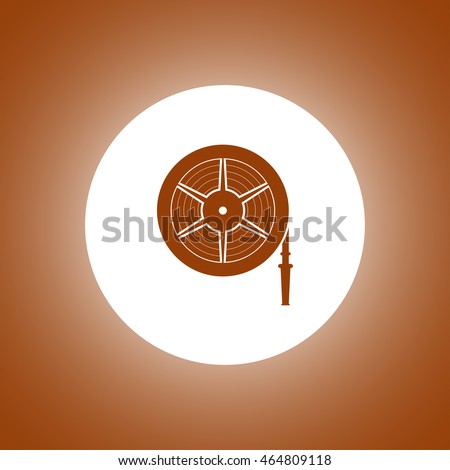 Fire hose reel Vector isolated illustrator EPS 10